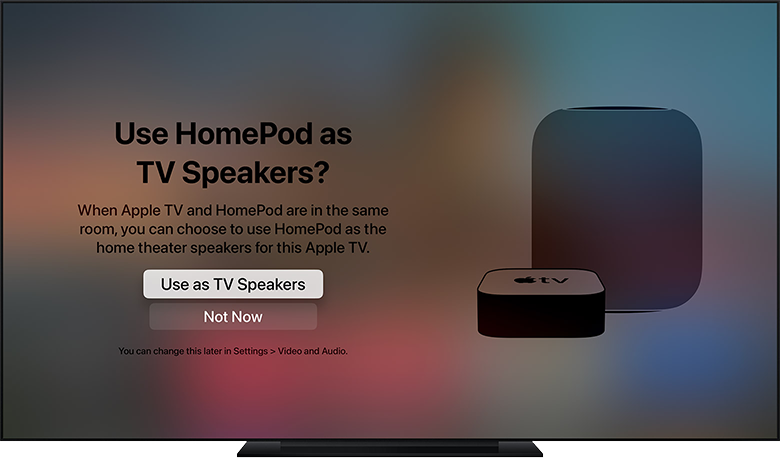 Apple TV home theater